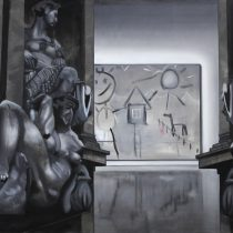 Exhibition I, 2013 203 x 280 cm, oil and acrylic on canvas, Sanquin Art Collection