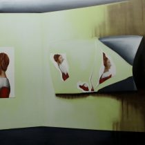 Exhibition VII, 2014, 156 x 203 cm, oil and acrylic paint on canvas
