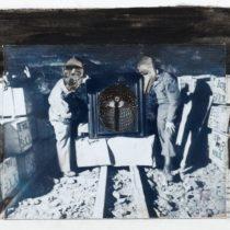 VII, 2015, 15 x 20,5 cm, photo, acrylics & ink on paper, framed